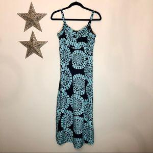 Ann Taylor Loft Petite Maxi Dress w/ Rosette Print